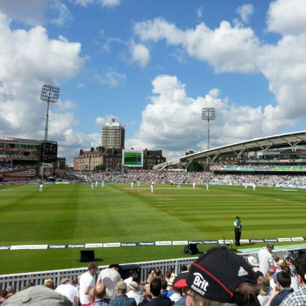Cricket at the Oval Cricket Ground