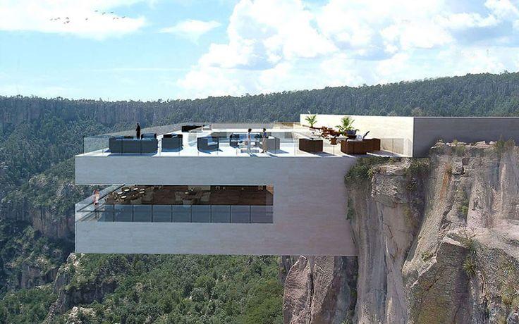 ある仕掛けに心臓ドキッ ! 崖に突き出したレストラン in メキシコ – VIP WORKS