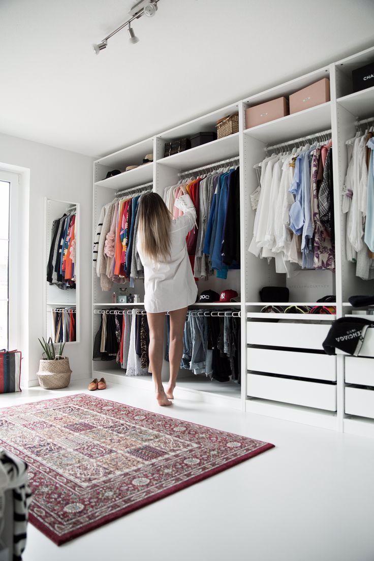 Meine Umkleidekabine Offener Ikea Pax Kleiderschrank Weisses Ankleidezimmer Mein Blog In 2020 Home Decor Home Decor