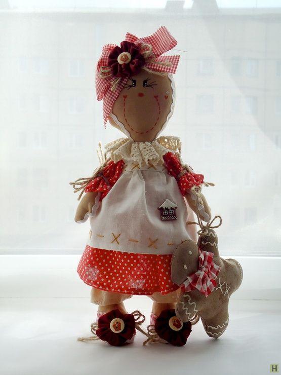 Интерьерная кукла пряничный человечек купить недорого в интернет магазине товаров ручной работы  HandClub.ru  Интерьерная кукла Пряничный человечек.