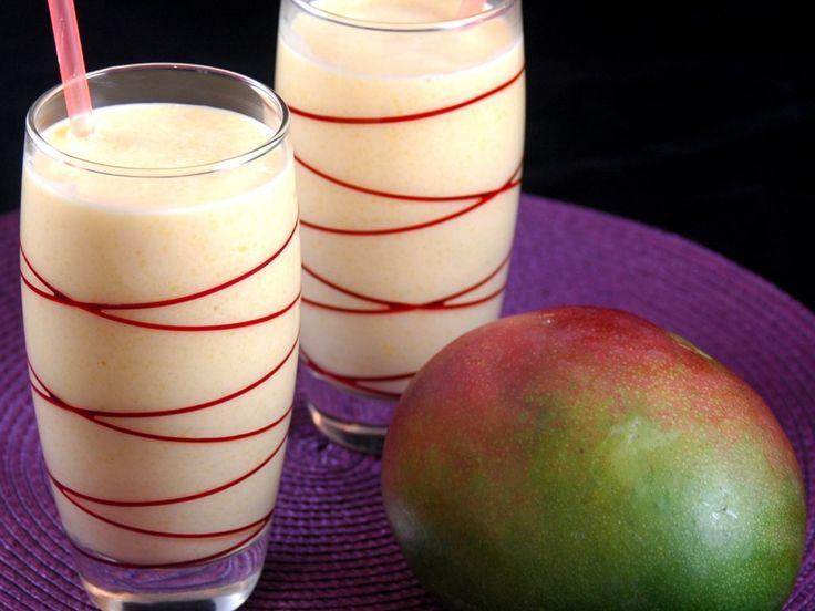 yaourt brassé, mangue, lait, sucre