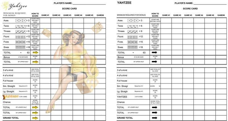 Strip Yahtzee Scorecard By DebaucherygamesDeviantartCom On