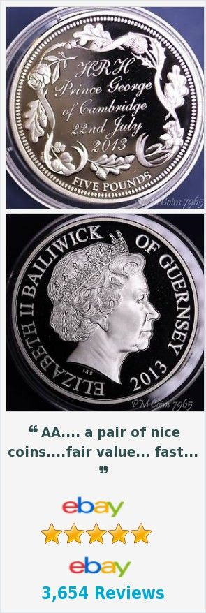 2013 Guernsey Silver Proof £5 coin, Prince George, Silver 925 proof coin [7964]  | eBay http://www.ebay.co.uk/itm/2013-Guernsey-Silver-Proof-5-coin-Prince-George-Silver-925-proof-coin-7964-/371810388476?hash=item5691a049fc
