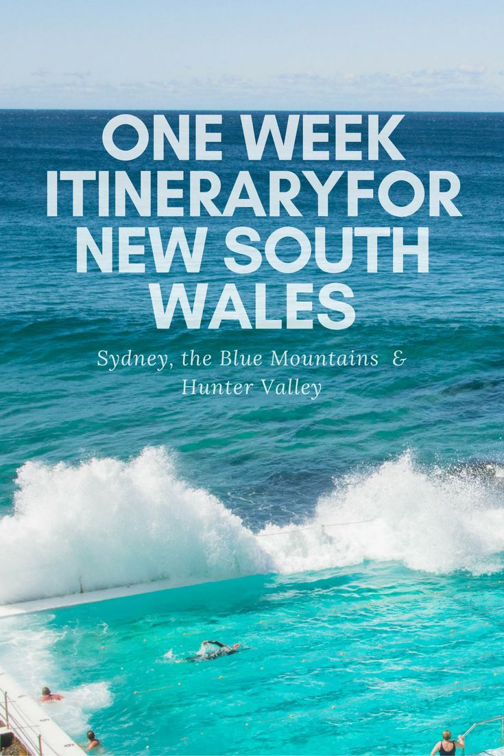 A one week itinerary for New South Wales from Sydney to the Blue Mountains and the Hunter Valley.