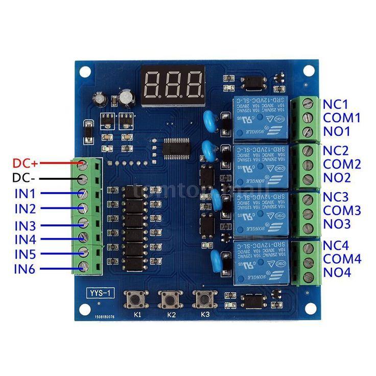 DC12V 4 CH Relay Module Digital Signal Trigger Delay Timer Switch Control D1J1 | eBay