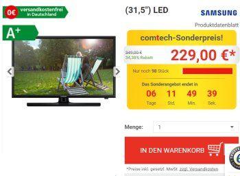 Monitor-TV-Kombi: Samsung T32E310EW für 229 Euro frei Haus https://www.discountfan.de/artikel/technik_und_haushalt/monitor-tv-kombi-samsung-t32e310ew-fuer-229-euro-frei-haus.php Mit dem Samsung T32E310EW ist jetzt ein Kombi-Gerät aus PC-Monitor und einfachem TV zum Schnäppchenpreis von 229 Euro zu haben. Das Produkt punktet mit einem niedrigen Stromverbrauch und guten Lautsprechern, dafür muss man deutliche Abstriche beim Tuner machen. Monitor-TV-Kombi: Samsung T3... #