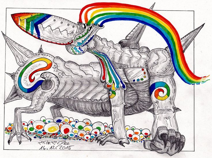 Rainbow Lizard by MickMcDee.deviantart.com on @DeviantArt