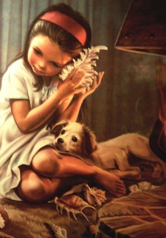 Marcel Marlier Illustration pour le livre pour enfants (détail).
