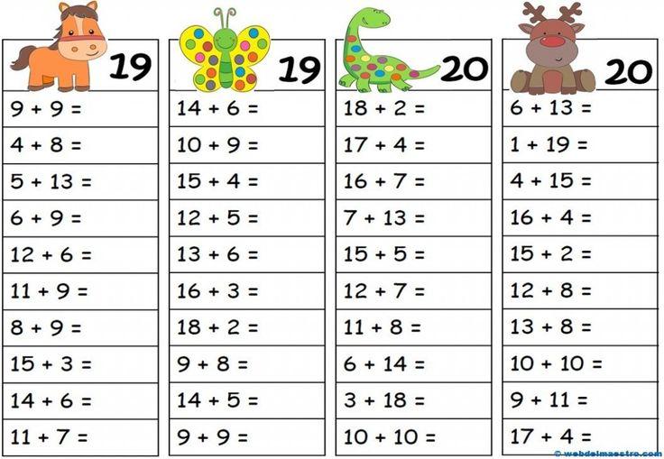 fichas de soma matematica 24
