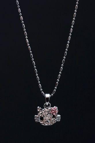 Kissimirri kaulassa ja murheet poissa! #pastel #pink #kitty #necklace #cybershop