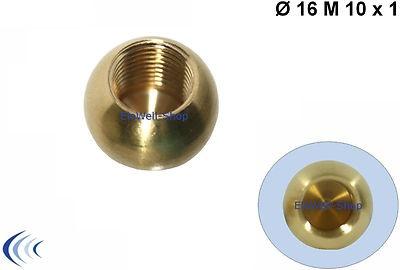 Messingkugel Ø 16 mm Sackgewinde M10x1 Gewinde Messing-Kugel Messing unbehandelt