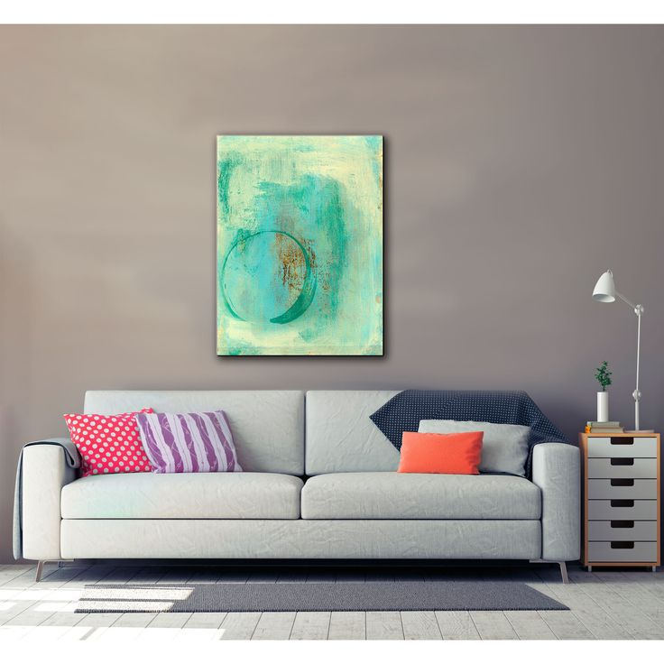 ArtWall Elena Ray 'Teal Enso' Gallery-Wrapped Canvas