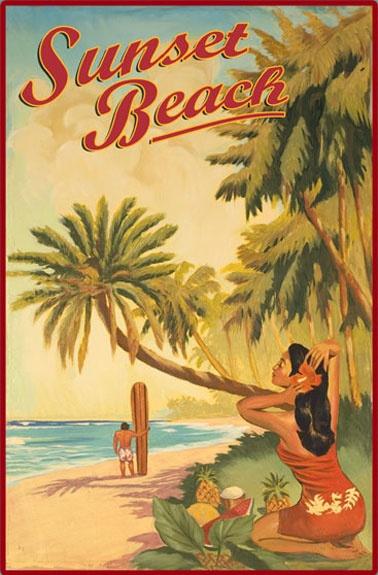 Vintage Hawaii poster. #hawaii #honeymoon
