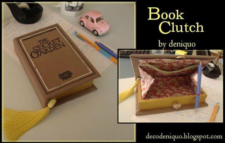 DECO deniquo: The Secret Garden Kitap Portföy - Book Clutch