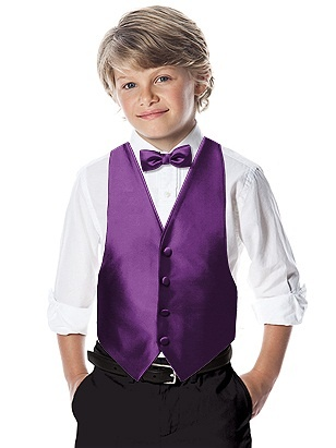 After Six Boy's Backless Vest (African Violet) Ring Bearer