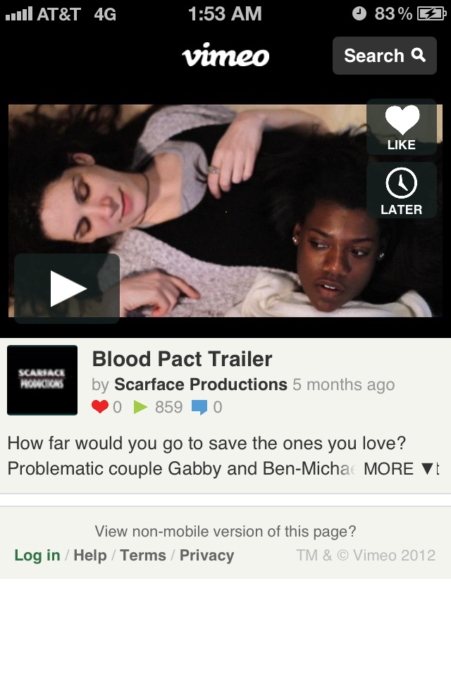 This is a trailer for my short film titled Blood Pact