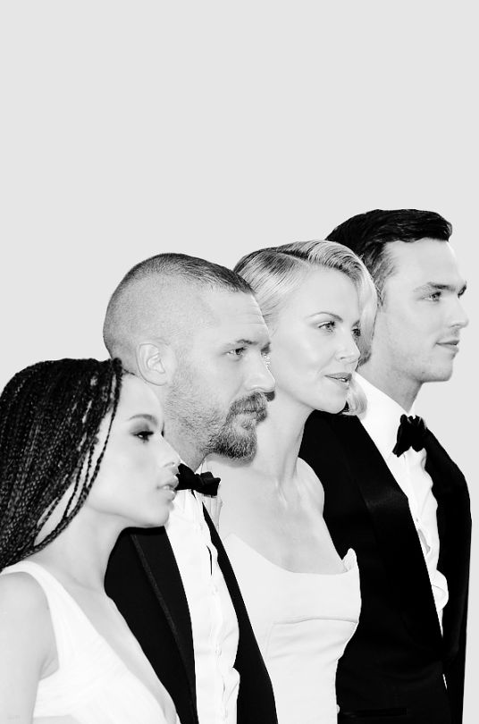 Tom Hardy with Zoe Kravitz, Charlize Theron and Nicholas Hoult - Mad Max Fury Road premiere in Cannes - May 14th 2015