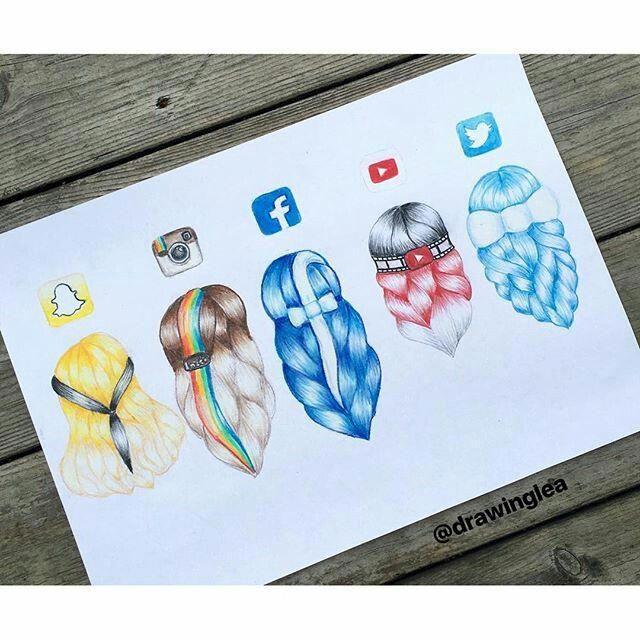 Sosyal Medya Sac Sekilleri App Drawings Social Media Drawings Social Media Art
