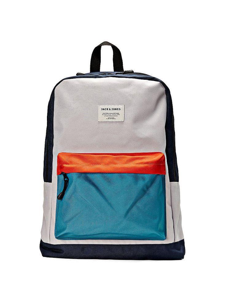 Accessories by JACK & JONES - Rucksack von ACCESSORIES - Eine große Tasche mit Rundum-Reißverschluss - Laptop-Fach innen - Vordertasche mit Reißverschluss - Schlaufe oben - Verstellbare, gepolsterte Schulterriemen - Mit kleinen Markenlogo-Details - Misst 45 x 32 x 17 cm 100% Polyester...