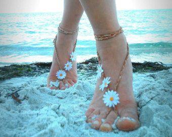 Barefoot sandals. wedding boho sandals barefoot sandles