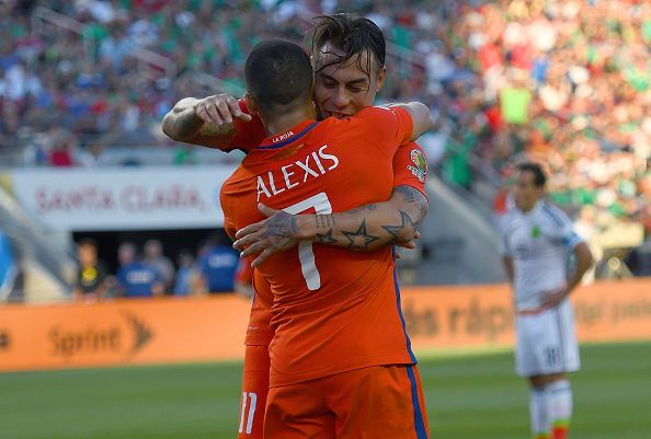 Vargas and Alexis. Chile NT. Copa America.