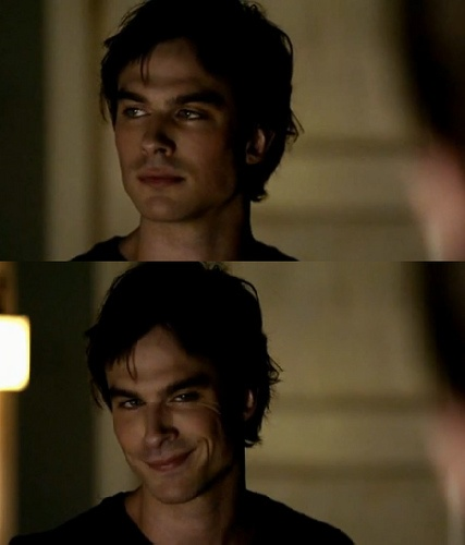 Hot diggedy dog. Look at that smolder. Oh, Ian Somerhalder, stop that. You're going to put someone's eye out.