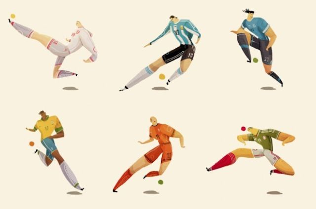 World Cup Players Illustrations2