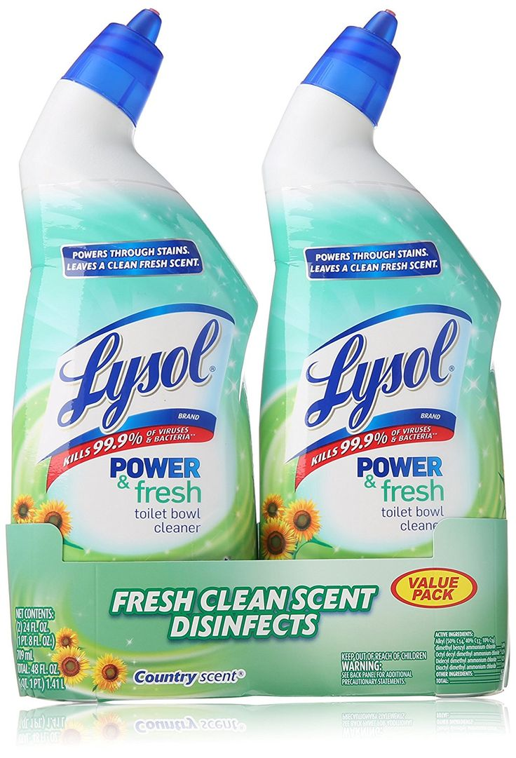 Lysol Clean and Fresh Toilet Bowl Cleaner, Cling Gel, Country Scent, 24 oz, Pack of 2 *** Check this awesome item pin  : Fresh Groceries