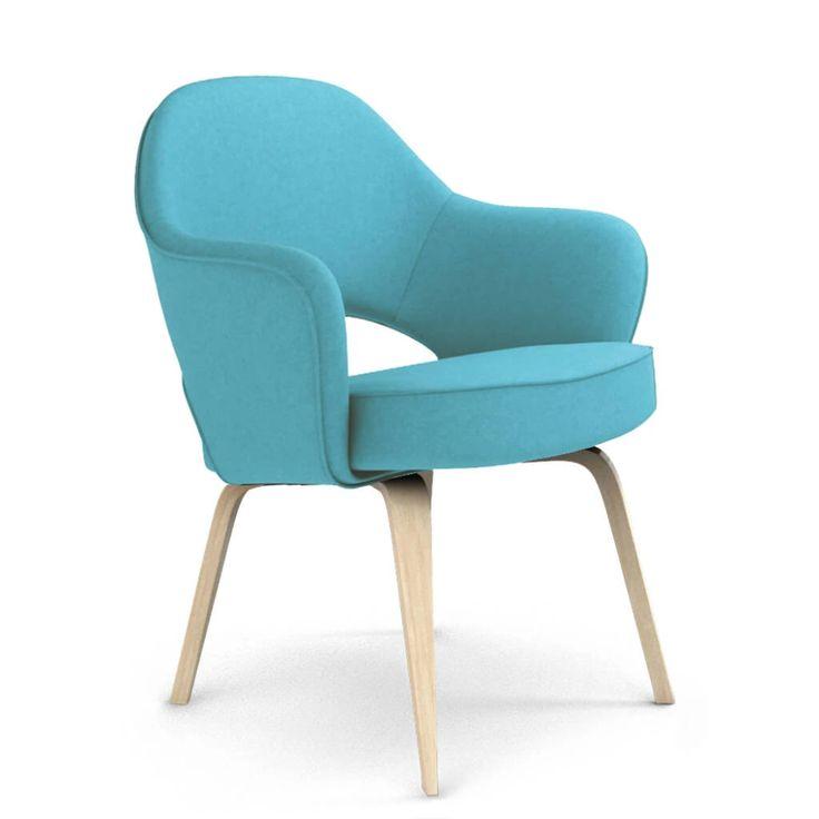 Saarinen Executive Armchair - Wood Legs in 2020 | Wood arm ...