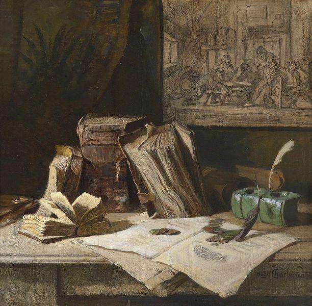 File:Hugo Charlemont Stillleben mit Folianten.jpg