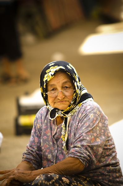 Woman in market, Turgutreis, Bodrum Turkey