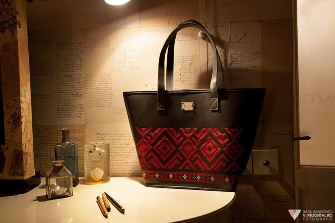 LUST EMBROIDERED LEATHER TOTE   #iutta #bag #iuttabags #dorderomanesc #leather #embroidery #motif  #folklore #folkart #art #fashion #contemporary #design #designer #accessories