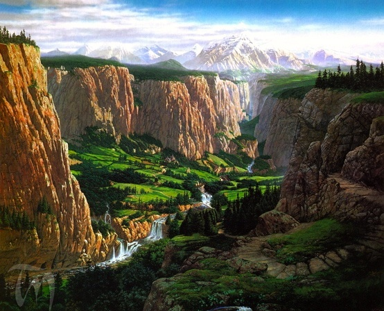 Middle Earth Landscape Inspiration America The 400 x 300