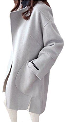 New Trending Outerwear: Generic Womens Autumn Chic Solid Color Mid Long Cocoon Woolen Coat Light Blue L. Generic Womens Autumn Chic Solid Color Mid Long Cocoon Woolen Coat Light Blue L  Special Offer: $43.84  400 Reviews The product is good quality and the new style is very fashion. And the material is comfortable, wear beautiful. Material:Wool Blend Polyester FiberSize details: US...