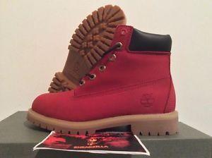 "Timberland 6"" Boot RUBY RED Premium Primaloft [6598R] Juniors Limited VILLA 4-7 from sneakzilla on eBay"
