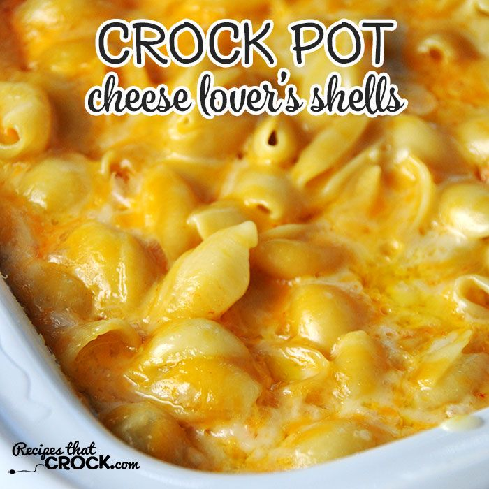 This Cheese Lover's Crock Pot Shells is so simple and has an amazing flavor! It is a great way to treat yourself after a rough day or some pop to dinner!