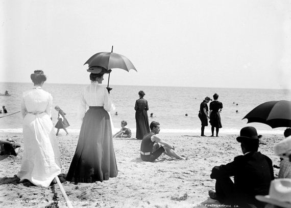 Turn of the Century Palm Beach Bathers by SilverbanksPictures