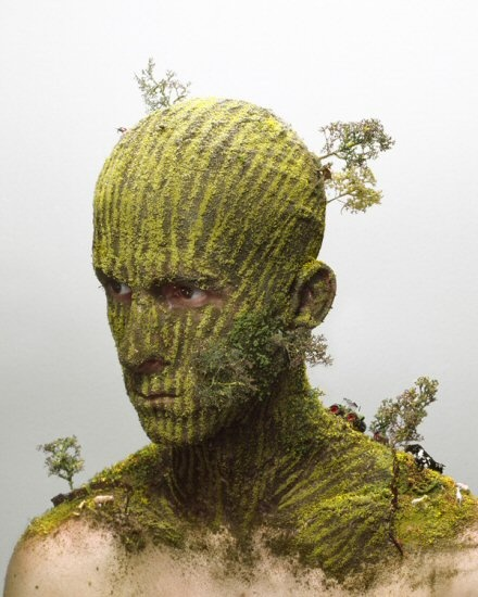 FUNNY TWEEK: Extreme Human Face Art