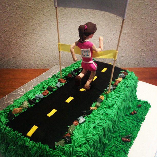 Marathon Runner Birthday Cake cakepins.com