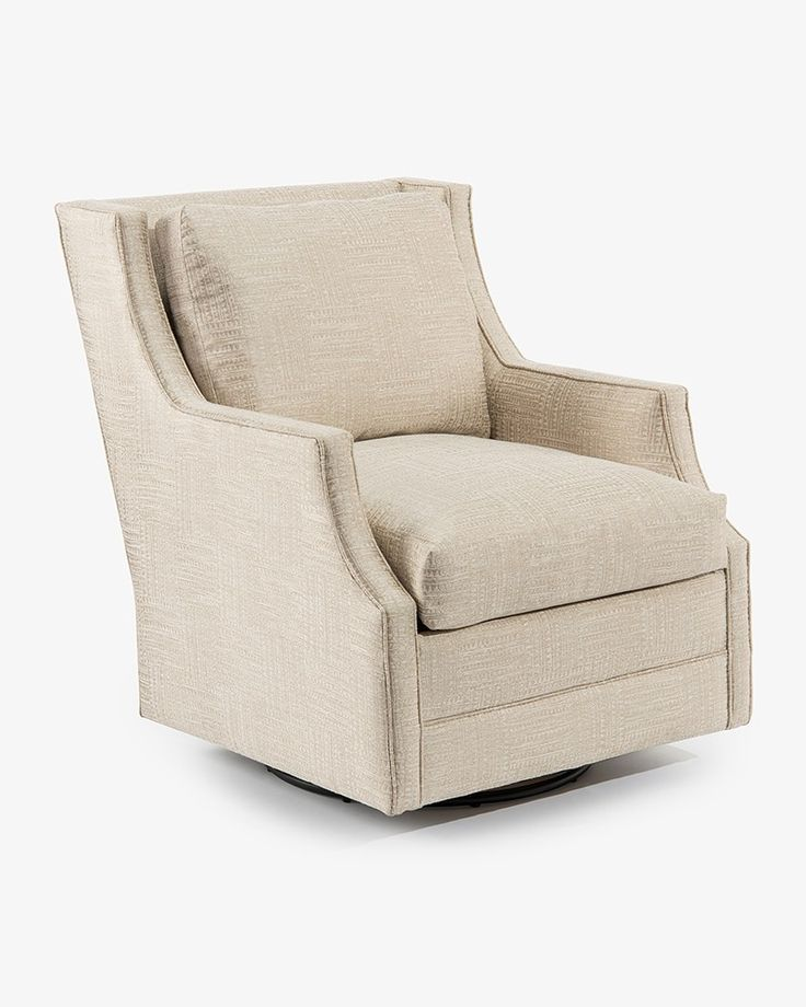 Wing-Back Scoop-Arm Swivel Glider Chair - Fully Upholstered - New Introductions - Our Products