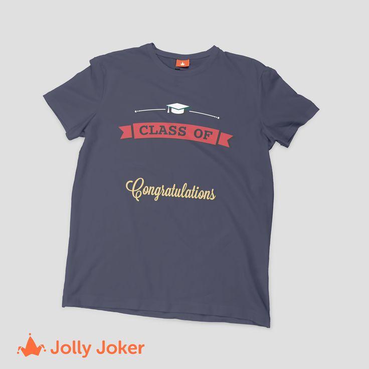El año más importante ¡Tu graduación! Diseña y ordena camisetas personalizadas de tu grado de la U! Haz de este día aun más especial
