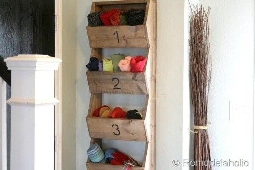 Rustic Wall Storage Bins - How about for potato, sweet potato & onion pantry storage!?!