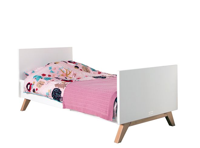 Bopita Lynn peuter bed 70x150 design wit / naturel  -  Kinderbeddenstore