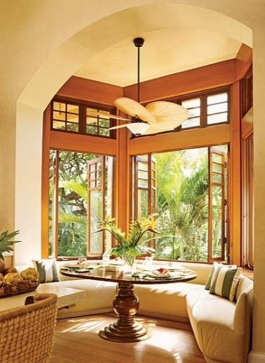 What a great breakfast/reading area.  Very Tommy Bahama...