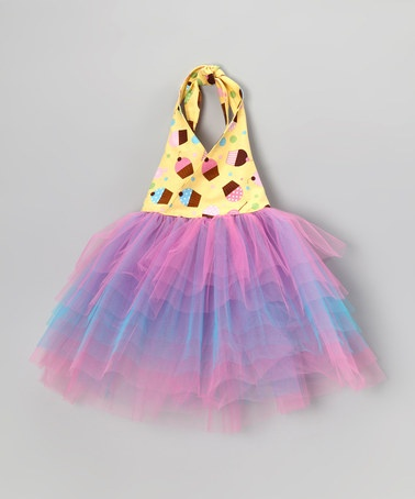 Take a look at this Yellow & Purple Cupcake Halter Dress - Infant, Toddler & Girls by Cute as Cupcakes: Apparel & Accessories on #zulily today!