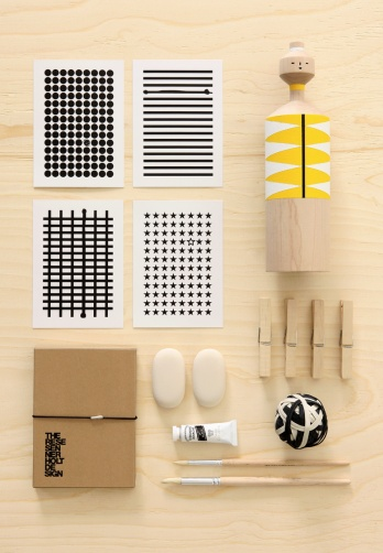 by Therese Sennerholt - black & white + yellow + wood