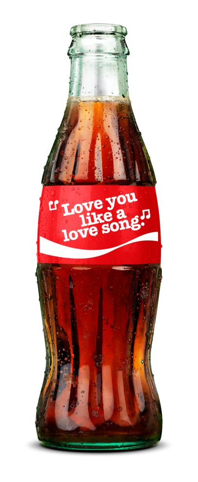 Love you like a love song. Selena Gomez Share a Coke Lyrics Bottle.