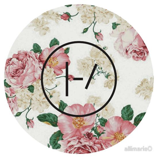 Twenty One Pilots Logo(flower background) | Unisex T-Shirt