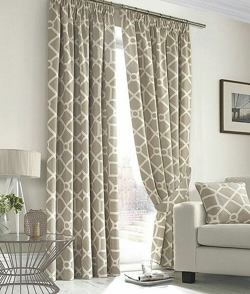 Geometric Curtains Woven Wood Shades And Drapes Pinte