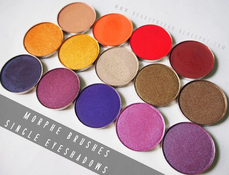 Morphe Single Eyeshadows Review - Beautybyrah
